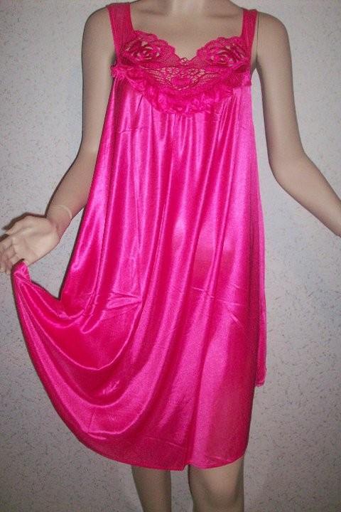 Robe De Nuit Rose Fushia El Warda Com