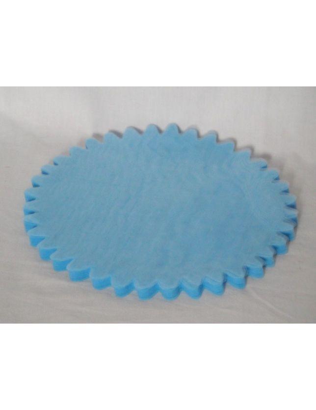 - Lot de 10 Tulles bleu