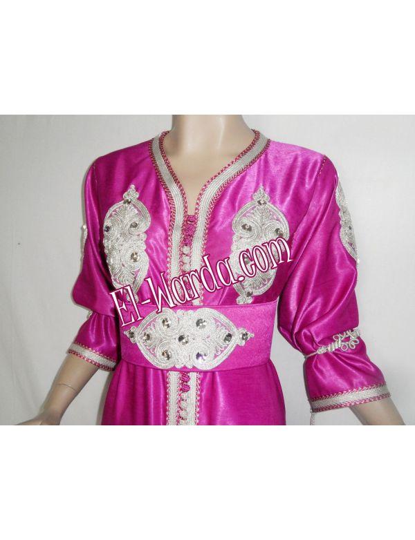 Caftan rose fushia - El-Warda.com