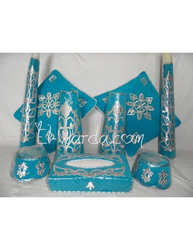 Ensemble Henné Bleu Turquoise1.