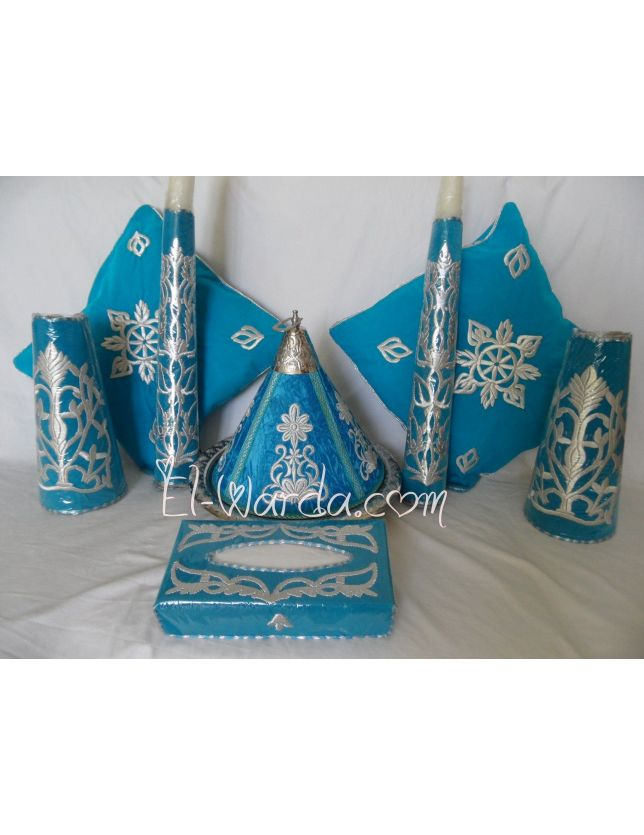 Ensemble Henné Bleu Turquoise2.