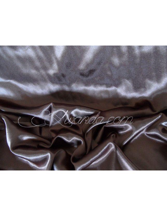 Tissu Satin de Soie / Marron chocolat.