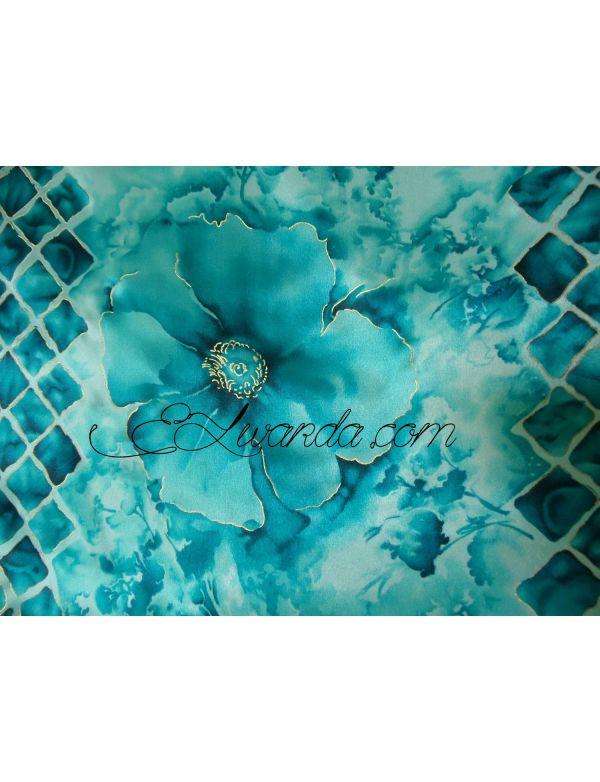 lot de tissu motif bleu turquoise el. Black Bedroom Furniture Sets. Home Design Ideas