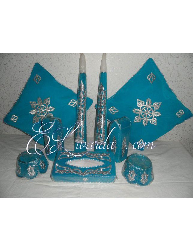 Ensemble Henné Bleu Turquoise 2