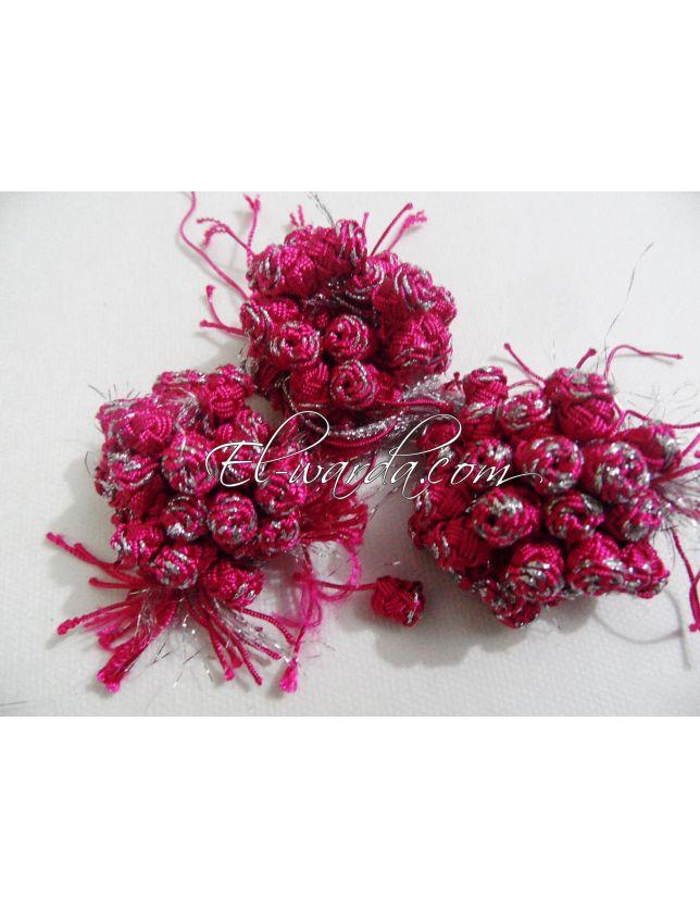 3QADS (arazza) rose fushia et argenté.