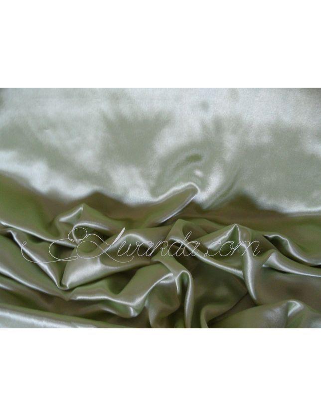 Tissu Satin de Soie / Vert pistach