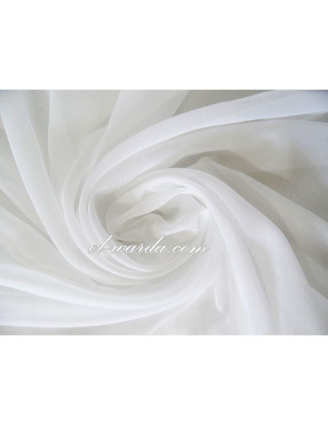 TISSU MOUSSELINE TOUCHÉ SOIE - Blanc