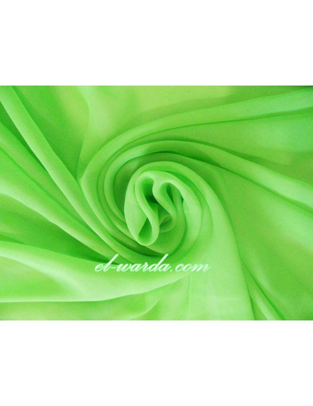 TISSU MOUSSELINE TOUCHÉ SOIE - vert anis
