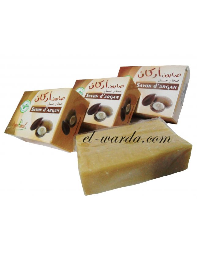 Savon d'argan 100% naturel