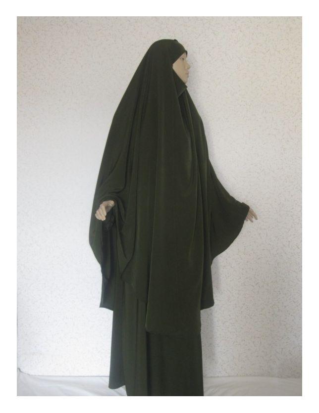 Jilbab vert Foncé
