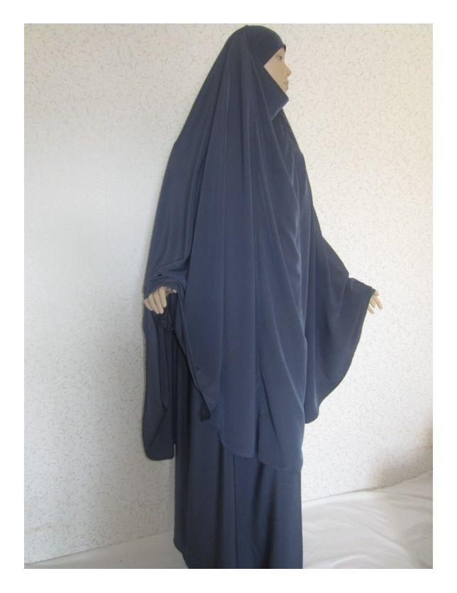 Jilbab gris bleu ✿
