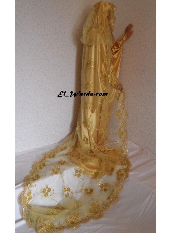 jilbab de mariage or - Jilbeb Mariage
