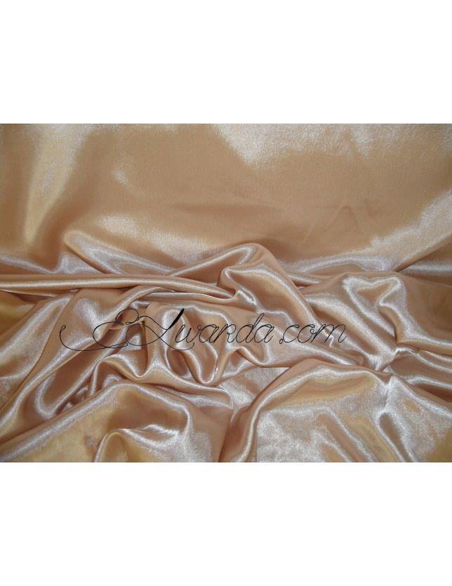 Tissu Satin de Soie / marron clair.