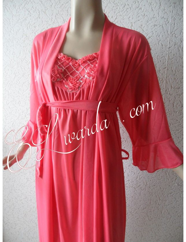 Robe de nuit rose Bonbon (Farha).