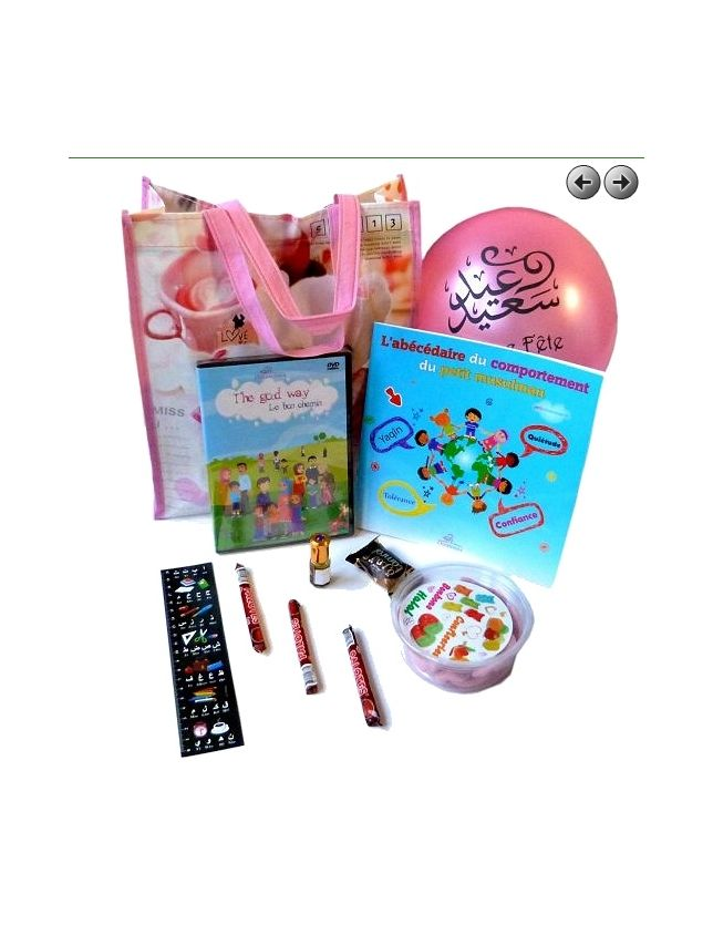 "Pack cadeau pour enfants ""J'apprends le bon comportement"" (Version fille)"