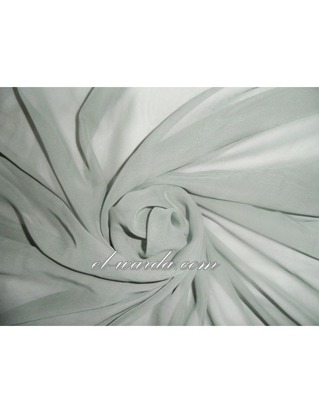 Tissu Satin de Soie / Vert kaki