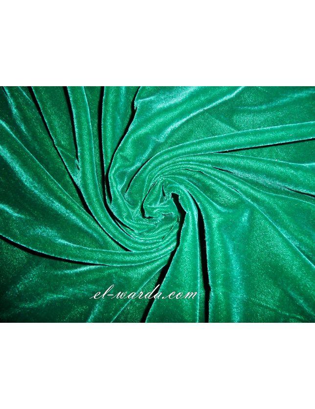 COUPON DE TISSU VELOURS vert royal