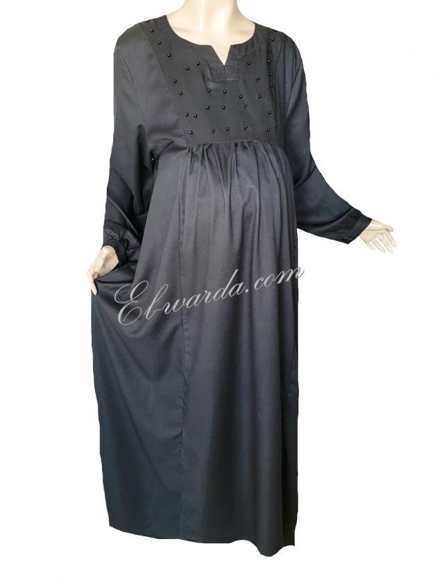 ABAYA GROSSESSE (KHADIJA) noir