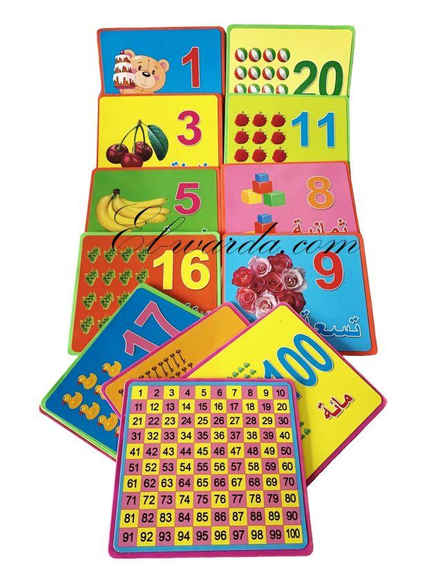 "Cartes alphabet ""chiffre arabe"""