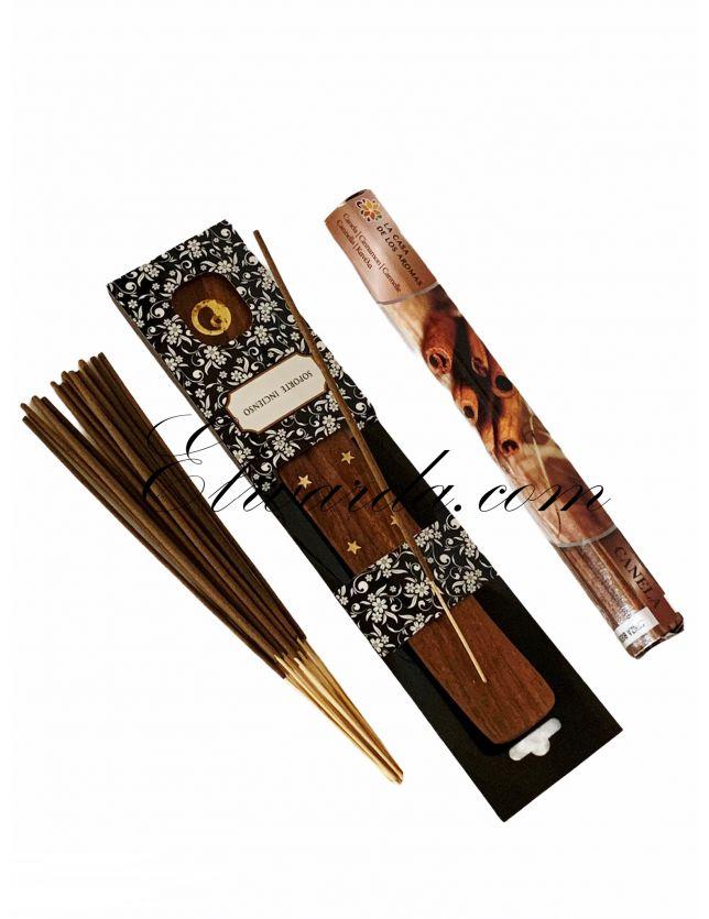Kit d'encens et porte encens ( cannelle )